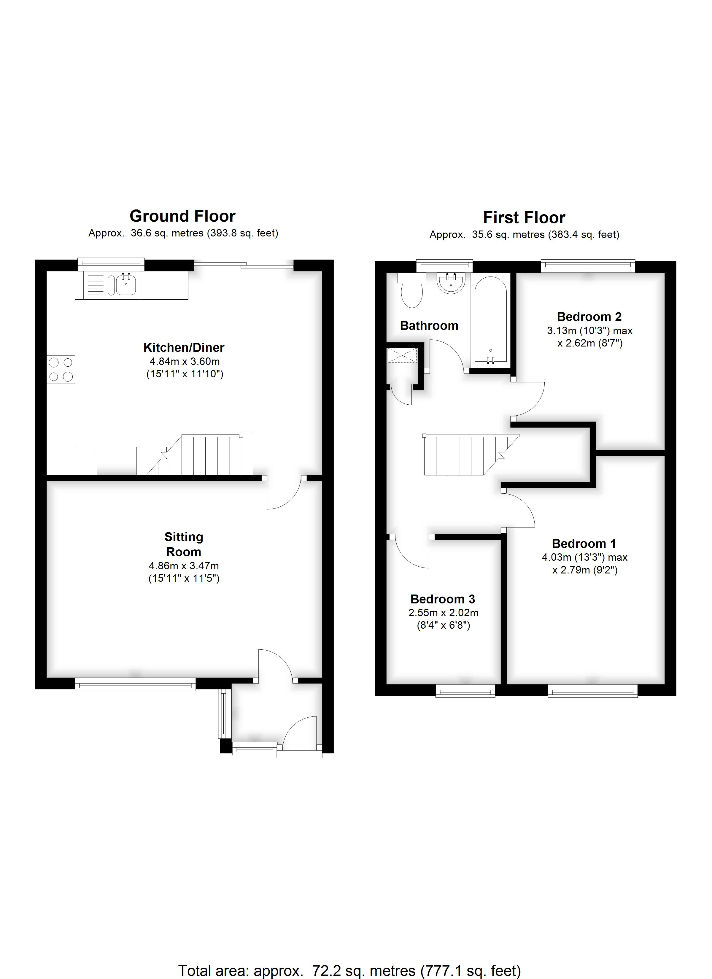 Floorplans For Poyntell Road, Staplehurst