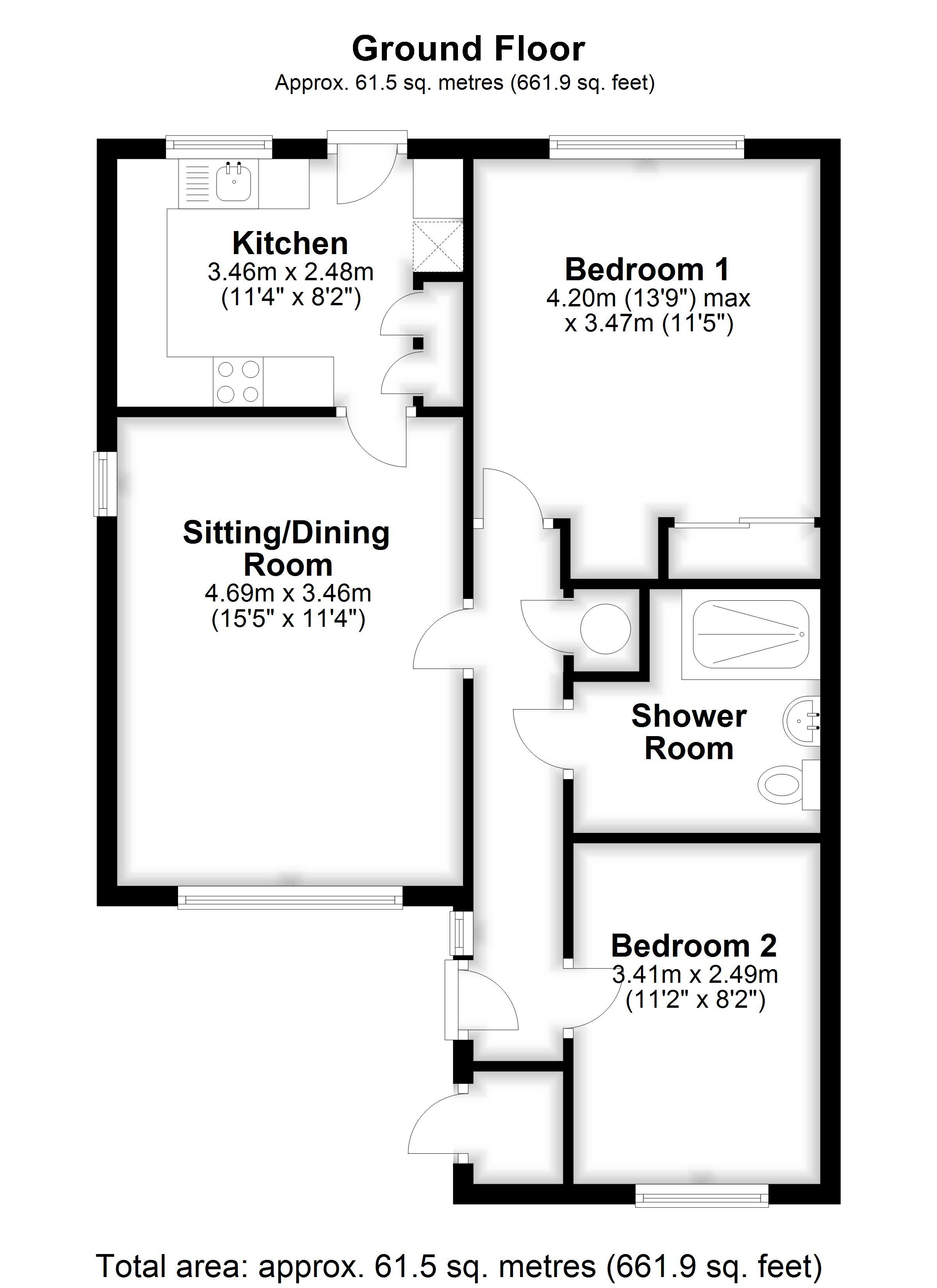 Floorplan for Bramley Court, MARDEN, TONBRIDGE