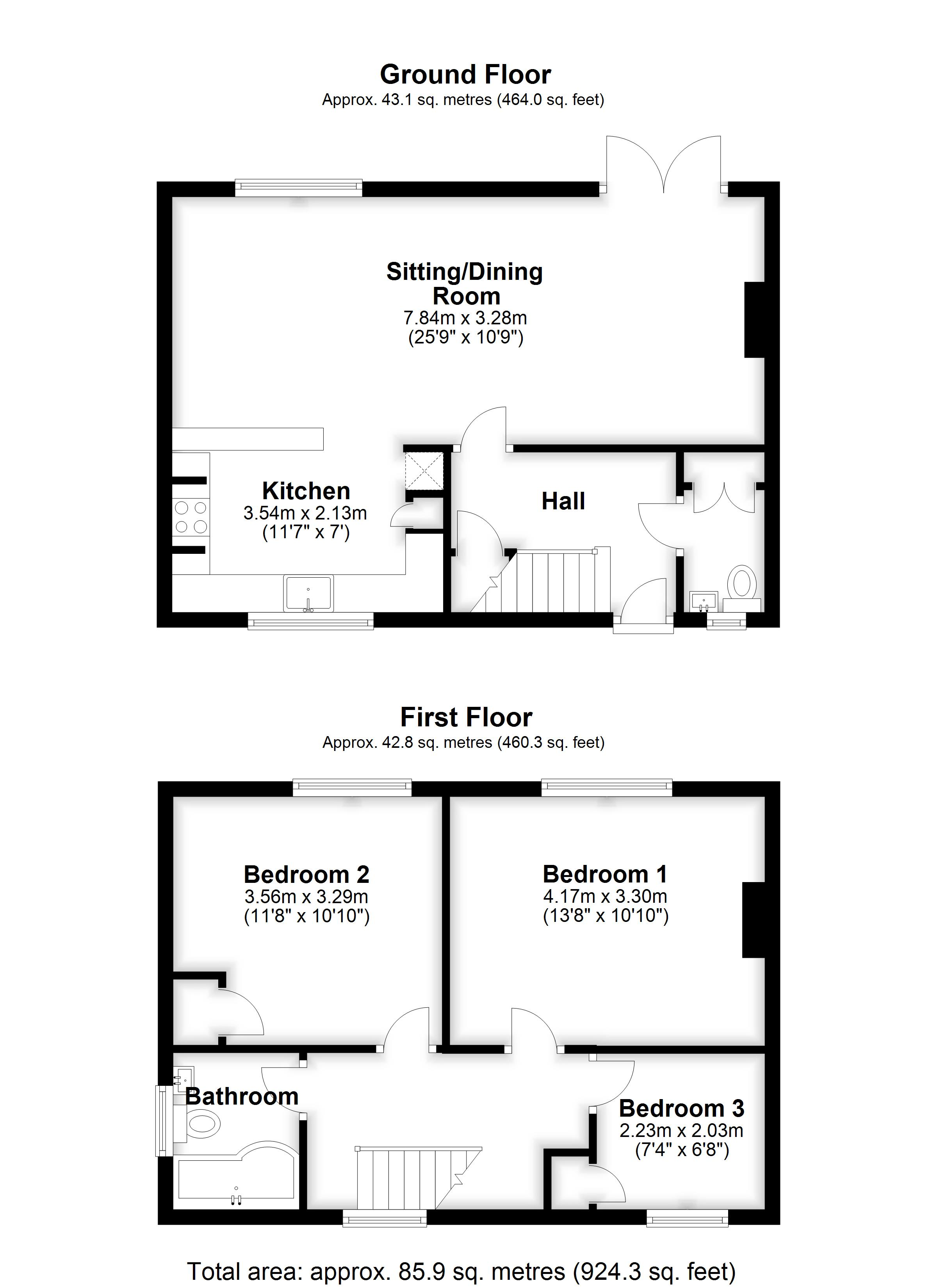 Floorplans For St. Margarets Villas, COLLIER STREET, NR MARDEN