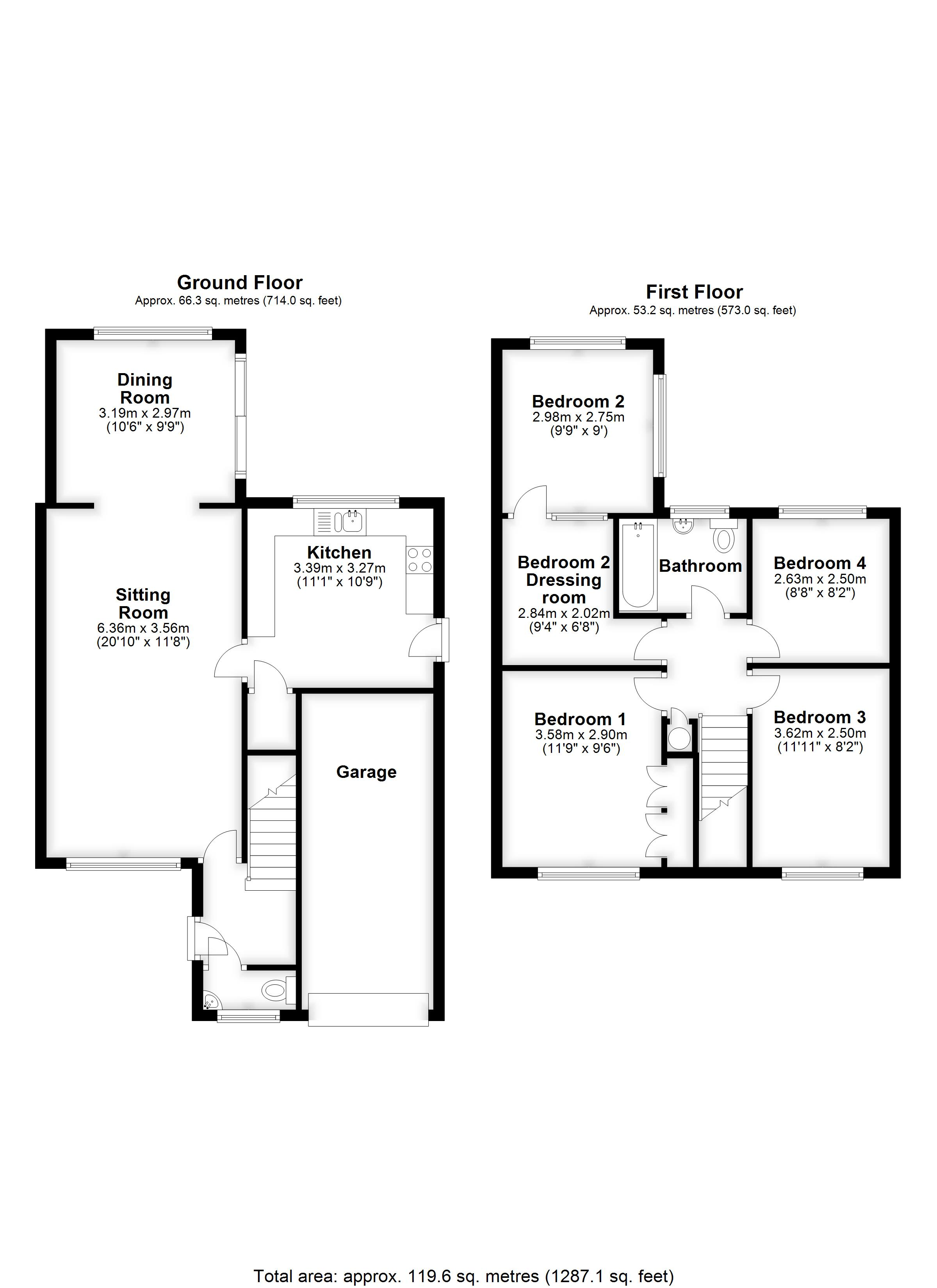Floorplans For Benden Close, Staplehurst