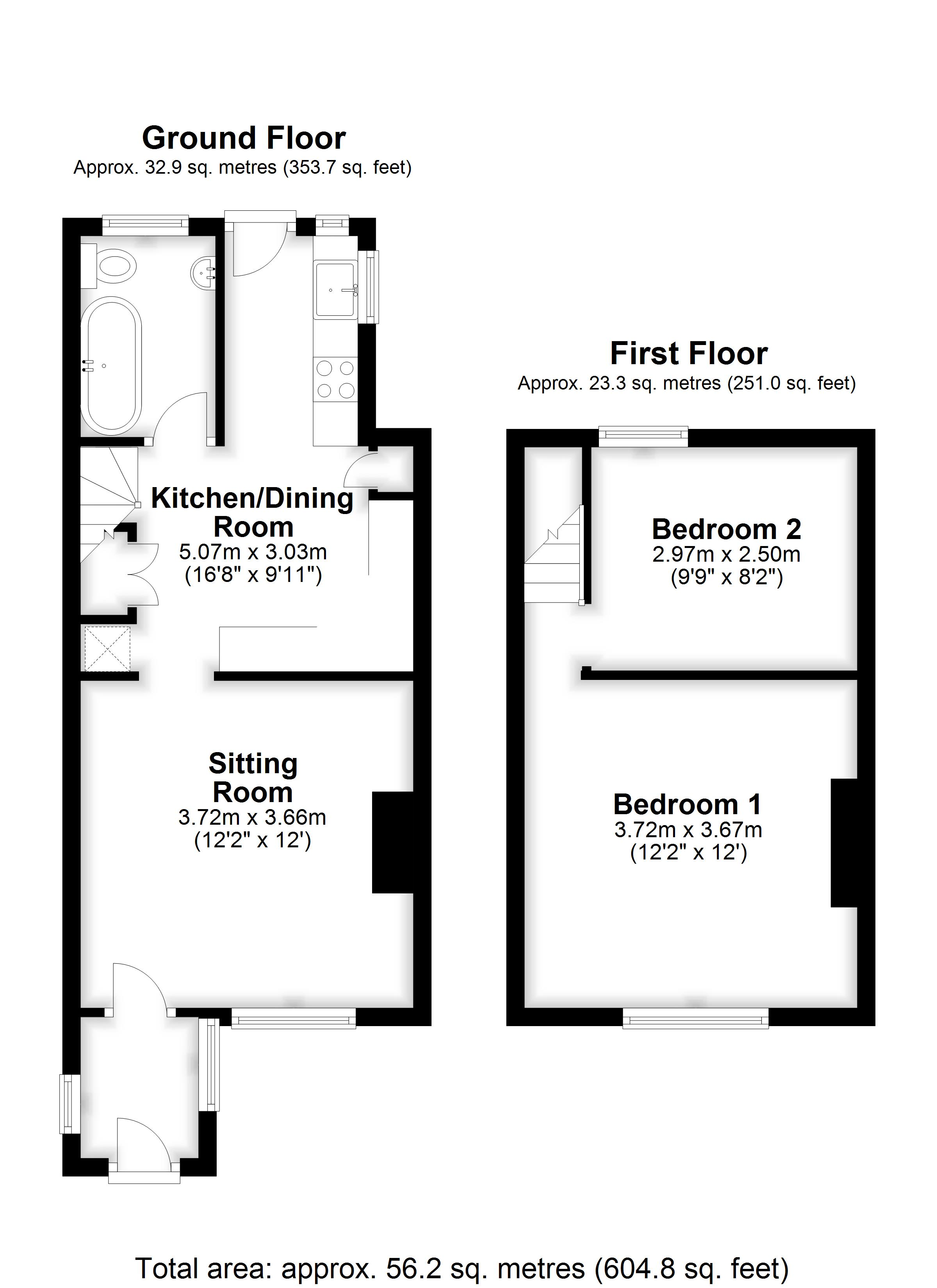 Floorplans For Heath Road, COXHEATH, MAIDSTONE