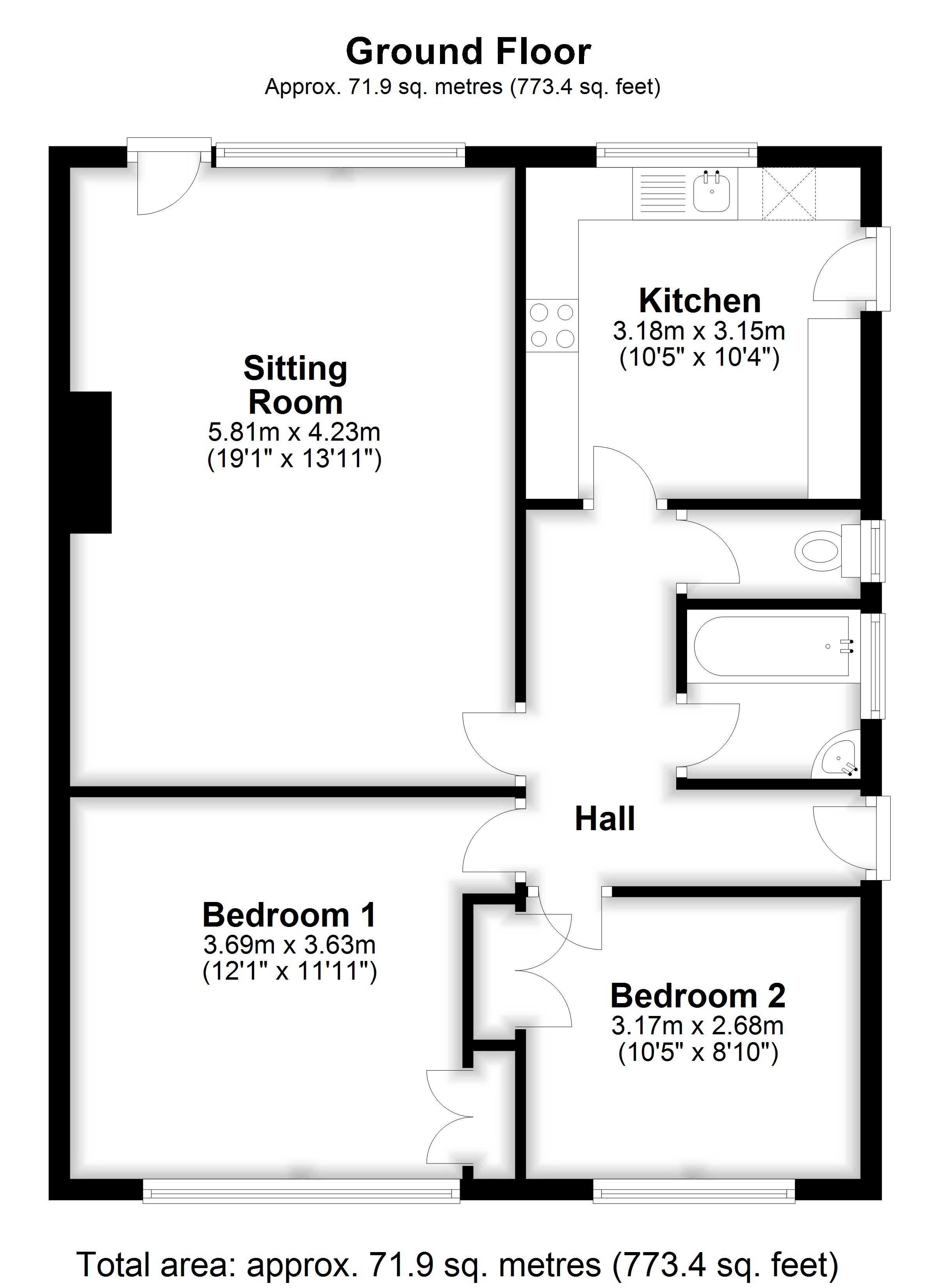 Floorplans For Hallwards, Staplehurst