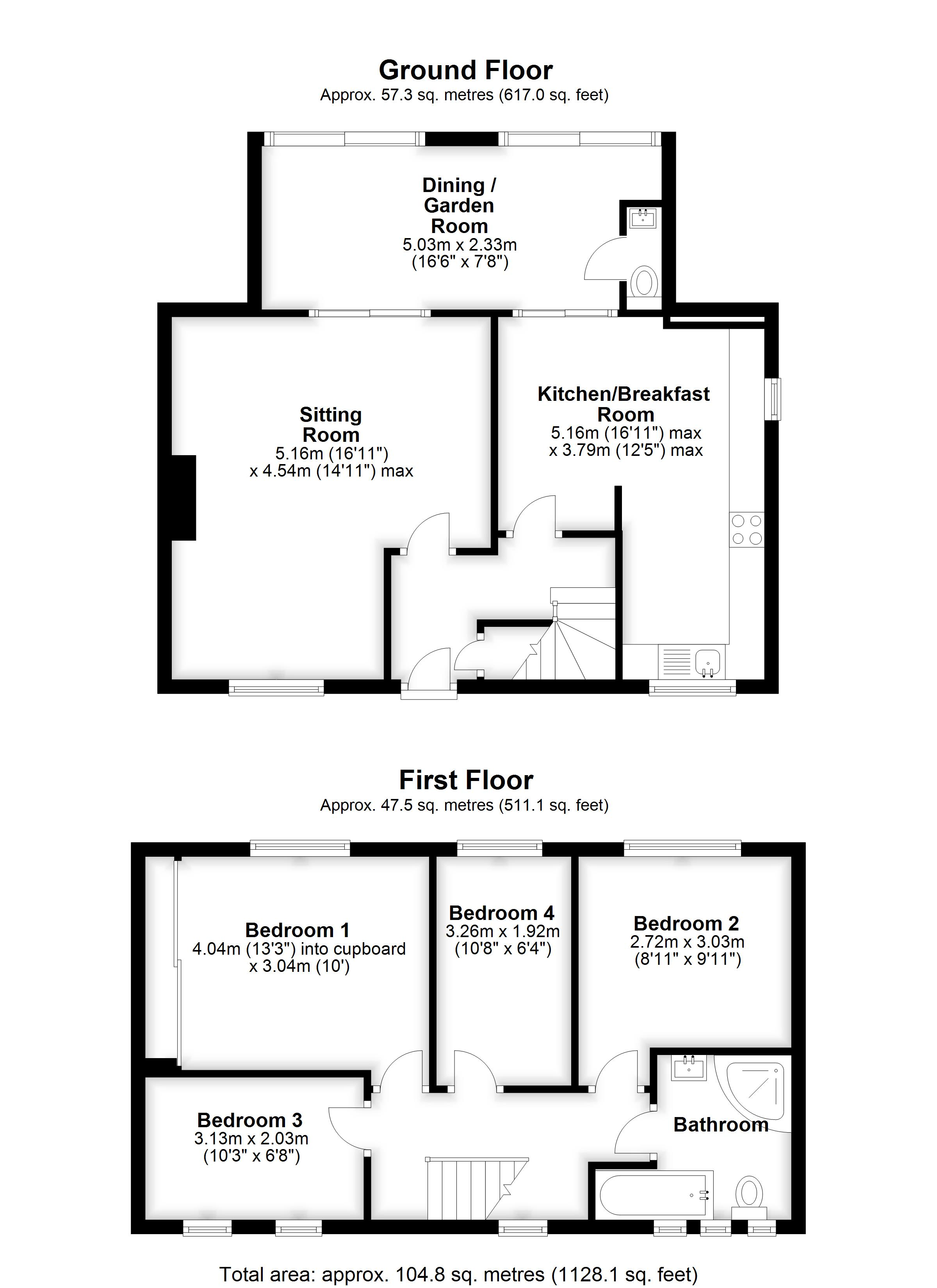 Floorplans For Chantry Road, Marden